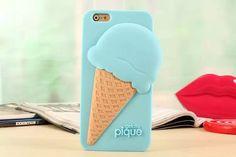 Barato Moda ice cream caso bonito casos de Silicone macio capa capa…