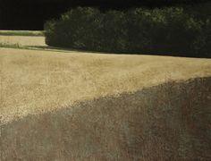 Benoit Trimborn, PAYSAGE D'ETE AU CIEL NOIR, Oil on canvas, 114x146cm, 2012