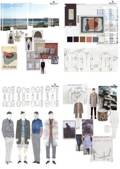Fashion Portfolio - Aquascutum father & son project, fashion sketchbook work, research, fashion drawings & development; fashion designing process // Miriam Sucis