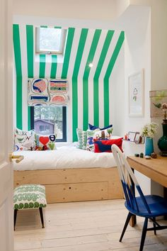 A colourful reading nook