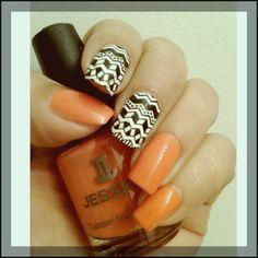 Orange with Tribe print
