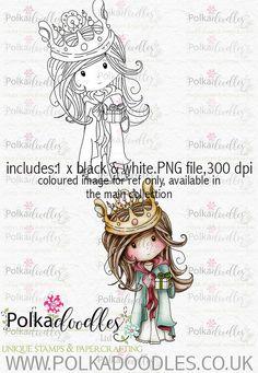 Winnie+Winterland++teniendo+regalos+arte+por+PolkadoodlesDigi