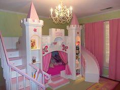 "New Bella's 2 Custom Princess Castle Loft Bed ""Free Delivery Setup | eBay"