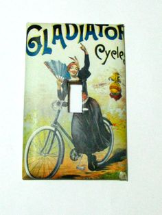 Light Switch Cover  Light Switch Plate Gladiator by TurtleboneToo, $8.00