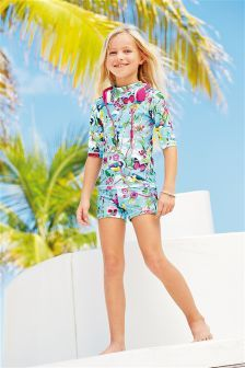 Blue Bird Print Sunsafe Set (3-16yrs)