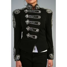 Mandalay Military Michael Jackson Jacket as seen on Beyonce Knowles, found on #polyvore.
