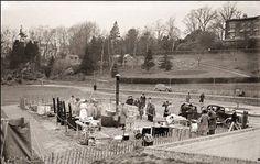 A field kitchen set up in Calverley Grounds. Kitchen Set Up, Tunbridge Wells, Felder, Ww2, Wellness, Park, Outdoor, Decorating Kitchen, World War One