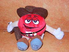 M&M's World Stuffed Plush Collectible Red m&m Candy Indiana Jones 2008