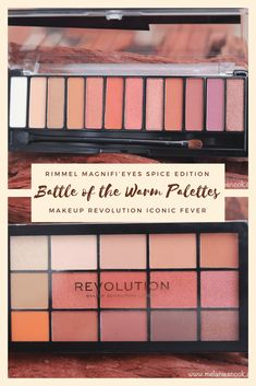 {BOTB} Drugstore Warm Palettes Makeup Revolution Iconic, Makeup Revolution Palette, Makeup Palette, Makeup Vs No Makeup, Rimmel London, Revlon, Cool Eyes, Fun To Be One, Nook