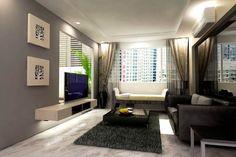Warna Cat Dinding Ruang Tamu Yang Bagus Modern Living Simple Room Small