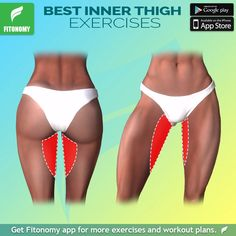 Target your inner thigh and legs with Fitonomy App! Install it now! fitonomy workout legs innerthigh exercise healthy fit fitness training athomeworkout exercisefitness is part of Fitness - Fitness Workouts, Yoga Fitness, Training Fitness, At Home Workouts, Health Fitness, Physical Fitness, Training Workouts, Fitness Diet, Fitness App
