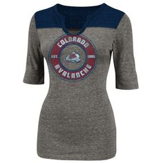 Medium Majestic Colorado Avalanche Women s Freeze The Puck Tri-Blend T-Shirt  - Heathered a1c8b85aa