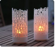 Poem lights - company makes lights out of your favorite poem/verse.