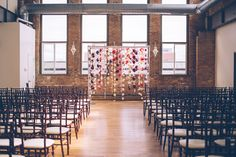 ceremony setup - photo by Ed and Aileen Photography http://ruffledblog.com/floral-graffiti-wedding-in-chicago