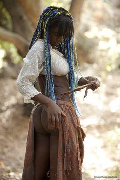 Beautiful black woman.