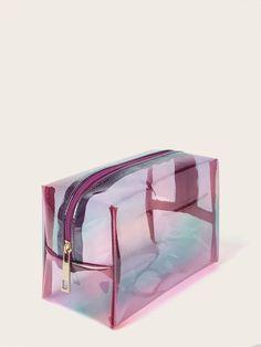 Shop Transparent Makeup Bag at ROMWE, discover more fashion styles online. Makeup Pouch, Makeup Case, Lip Makeup, Cute Makeup Bags, Cute Mini Backpacks, Cute Pens, School Accessories, Cute School Supplies, School Stationery