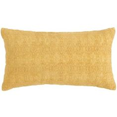 The chenille texture may have been inspired by centuries-old woven textiles, but we've infused our warm, honey-colored pillow with a fresh, up-to-date vibe. The cotton cover is soft to the touch and comes complete with a shaped poly insert inside the concealed zipper closure. Comfortable, fashionable and brilliant, this is one pillow that's easy to weave into your plans.