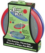 Spring Ring-Toss and Catch or Frisbee Game ~ These fun play ring sets can be used in the yard, park, in the pool or at the beach! The big foam-ring paddles have a stretchy nylon center that make toss and catch games tons of fun. Includes both a rubber ball and a pom-pom ball. Rings can also be thrown like a Frisbee - there are so many different ways to play! Each packaged set includes two large 16 inch paddles, one rubber ball and one pom ball.
