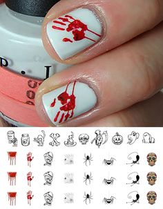 Halloween Nail Decals Assortment No.1 - WaterSlide Nail Art Decals - Salon Quality! * This is an Amazon Affiliate link. Be sure to check out this awesome product.