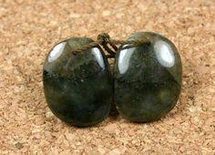 GreyGreen Laboradorite Earring Pair  Smooth Oval by ABOSBeads, $9.99
