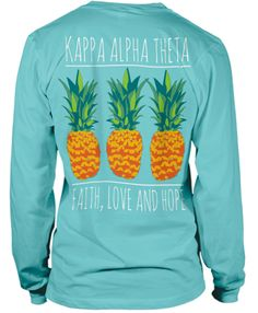 Pineapples!  Kappa Alpha Theta Bid Day T-shirt.  Maybe for Recruitment.