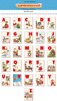 Digital Christmas ABC flashcards / alphabet flash by KBandFriends