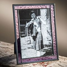J Devlin Purple Stained Glass 4x6 and 5x7 Horizontal or Vertical Photo Frame (5 x 7) *** To view further for this item, visit the image link.