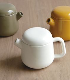 Cute little teapots.