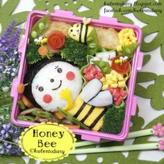 Twitter from @Karen Wee's Bento Diary #Honey #bee #bento #obentoart #kwbentodiary http://kwbentodiary.blogspot.com/2013/11/bentonov16hippomums-honey-bee-ideas.html … #kyaraben #lunch