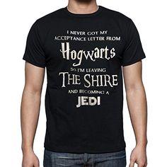 Hogwarts Harry Potter Star Wars Jedi Unisex Fit T-Shirt: Amazon.co.uk: Clothing