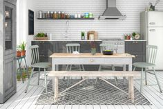 photos: Eating in the Kitchen – Need A Nice Eat-In-Kitchen Dining Area Kitchen Table Chairs, Kitchen Dining Sets, Narrow Kitchen, Eat In Kitchen, Dining Table, Dining Room, Kitchen Design Gallery, Modern Kitchen Design, Small Dining Area