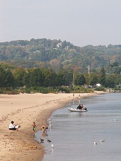 Beach in Traverse City, Michigan