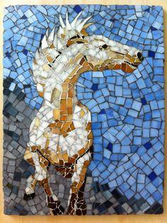 Glass Horse Mosaic by AVglassart on Etsy, $210.00