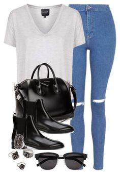"""""""Style #10341"""" by vany-alvarado ❤ liked on Polyvore featuring Topshop, Givenchy…"""
