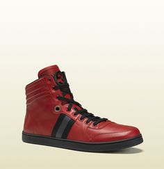 Men's High-Top Sneaker From Viaggio Collection | Gucci