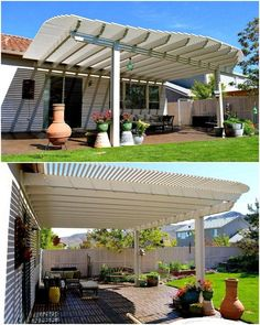 No doubt that whenever we think about the renovation of our outdoor, a pergola installation seems the top choice. This elegantly style custom design pergola design is semi-attached to the house structure. The creation is meant to provide a balance shaded area for your wonderful leisure time.