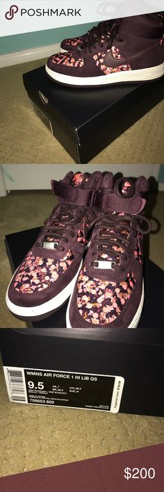 e953489b6ac Spotted while shopping on Poshmark  Limited addition floral Air Force 1s!   poshmark
