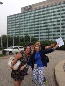 Hanging with Lisa Samples at Ford's World HQ