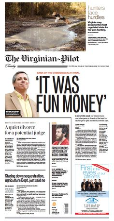The Virginian-Pilot's front page for Tuesday, April 2, 2013.