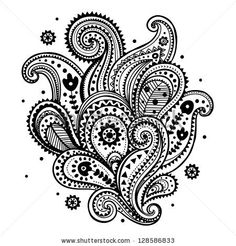 Beautiful ethnic paisley ornament by Transia Design, via Shutterstock