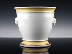 Klassizistischer Bing & Gröndahl Porzellan Cachepot um 1860 Frauenköpfe  | eBay