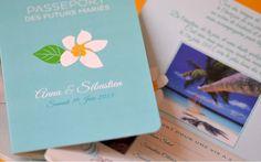 Invitation Passeport Wedding Faire-part Mariage voyage exotique creation latelierdelsa  #fairepart #mariage #wedding #fairepartsurmesure #passport #invitation #latelierdelsa