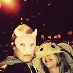 #birthdaymood #throwback to that #crazynight in #nyc with #mylove @angi.bon 🤘 ... #halloween in #nyc 🐷🎃🐒 #halloweenparade #bynight 🇺🇸 #scarypiggy #sweetmonkey Crazy Night, Halloween Parade, Monkey, Scary, Nyc, Birthday, Movie Posters, Travel, Jumpsuit