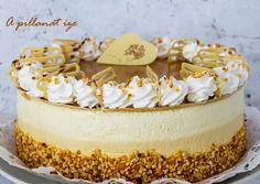 Fehércsokis sóskaramell torta | Margaréta 🌼 receptje - Cookpad receptek Cakes And More, Vanilla Cake, Tiramisu, Mousse, Cake Recipes, Breakfast Recipes, Cheesecake, Birthday Cake, Sweets