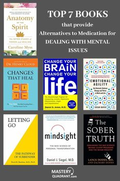 Medication is not the only way of dealing with mental issues. There are natural alternatives, that are significantly safer and with no side effects. Discover the power of natural therapies in this book list. Top Books To Read, I Love Books, Good Books, Book Suggestions, Book Recommendations, Reading Lists, Book Lists, Entrepreneur Books, Self Development Books