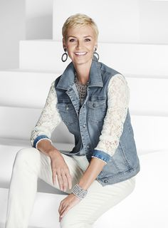Style Resolution: Add a feminine touch with our Denim and Lace Jacket.