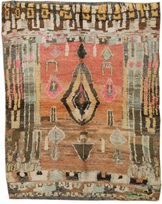 amazing rug, vintage feeling color.
