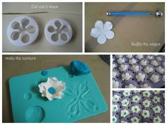 How to make ruffle flowers with 5-petal cutters.