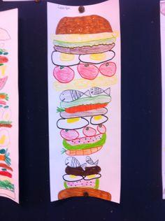 Broodje met..., tekenles groep 4