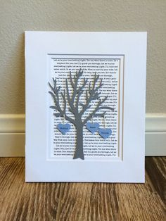 27 Personalized 1st Year Anniversary Gift Tree- Paper Anniversary - Long Distance relationship Gift - Wedding or Engagement Gift 3D Paper Art